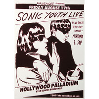 Sonic Youth - Concert Promo Poster