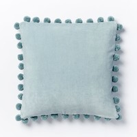 Jay Street Ashti Pom Pom Pillow Cover - Pale Harbor