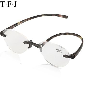 Reading Glasses Magnifier Eyewear Men Women Clear Reading Spectacles Rimless Glasses For Sight Eyewear Diopter Lunette Loupe