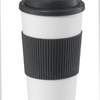 Oggi Hot to Trot Double Walled 16-Ounce Travel Mug, Black Lid