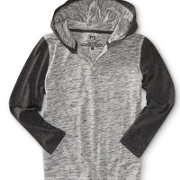 PS from Aero  Kids' Long Sleeve Heathered Hooded Henley