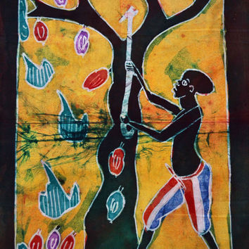 African Art, African Batik, African American Art, Batik, Home Decor, Afrocentric Art, Black Art, Tribal Art, Ethnic Art, Afro Cuban Art