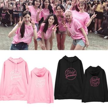 New kpop SNSD Girl's Generation Regular six Album The Same unisex Suit long sleeve hoody Outerwears with hat