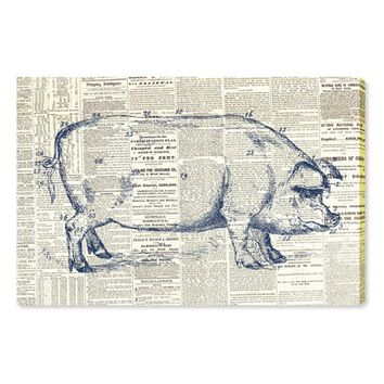 Oliver Gal Pig Farmhouse Canvas Wall Art | Nordstrom