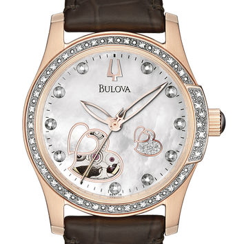 Bulova 98R139 Women's Automatic Diamond BVA Series 130 MOP Watch