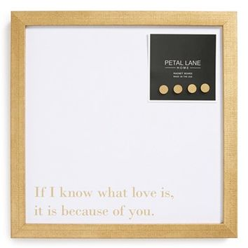 Petal Lane 'If I Know What Love is, It's Because of You' Magnet Board