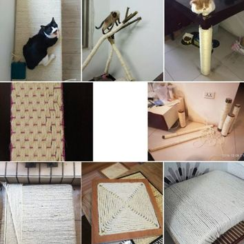 2018 Natural Sisal Rope Cat Scratching Post Toys Making DIY Desk Foot Chair Legs Binding Rope Material For Cat Sharpen Claw 3/5M