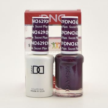 DND Daisy Soak Off Gel Polish + Matching Nail Polish Duo 629 Secret Plum