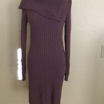 NWT Benetton Sweater Dress, Purple, Medium