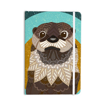 "Art Love Passion ""Otter in Water"" Blue Brown Everything Notebook"