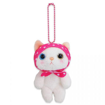 Choo Choo Cat with Pink Hood Mascot Ball Chain