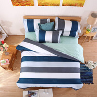 Summer style bedding cotton set twin Full Queen size duvet cover set reactive printed bed linen flat sheet bed sheet no quilt