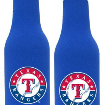 MLB Rangers Neoprene Bottle Suits | Texas Rangers Beer Bottle Koozies - Set of 2