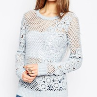 ASOS Hand Crochet Jumper at asos.com