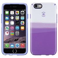 Speck Products CandyShell Inked Carrying Case for iPhone 6 - Retail Packaging - ColorDip Purple Pattern/Wisteria Purple
