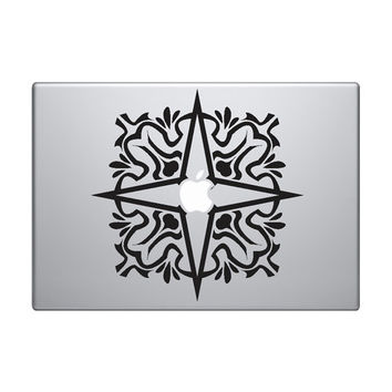 """Abstract Pattern Vinyl Decal / Sticker to fit Macbook Pro 13"""" 15"""" 17"""" - Custom sizes available - grid tentacles raster precision die cut"""