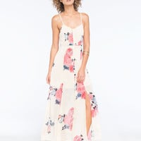 Lottie & Holly Floral Button Front Maxi Dress Multi  In Sizes