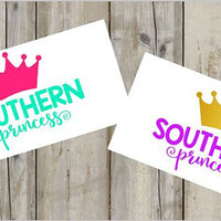 Southern Princess Country Girl Decal for Cars, Trucks, Yetis, and Much More! - Country - Southern Pride - Princess - Decal - Custom -