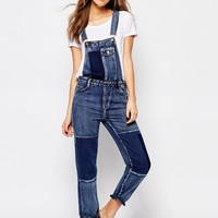 Pull&Bear Patchwork Dungarees