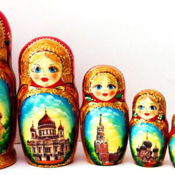 Russian nesting doll Moscow kod271