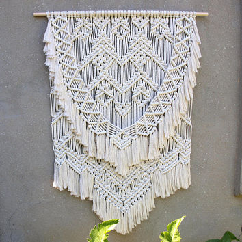 Hippie wall decor Large macrame wall hanging Large boho decor Bohemian tapestry Extra large wall hanging Woven wall art