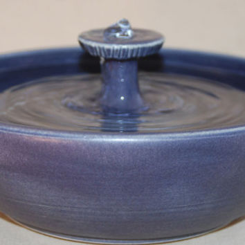 "Cat Water Fountain, Pet Fountain, Indoor Fountain, Foodsafe - 11.25 Inch Diameter - ""Aubergine Roundtable"""
