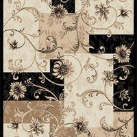 My Associates Store - Home Dynamix Optimum 11025 Black 92-Inch-by-124-Inch Traditional Area Rug