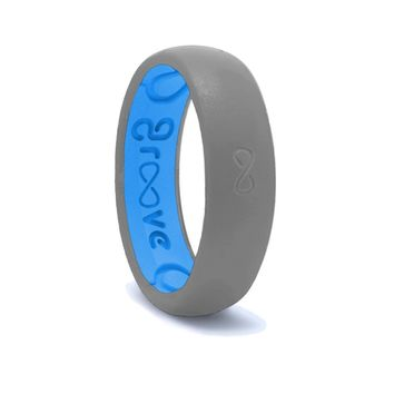 Groove Thin Silicone Ring - Storm Grey