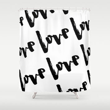 Shower Curtain - Dalmatian Print - Black from BellaBellaShoppe on