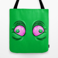 Happy Eyes Tote Bag by Artistic Dyslexia