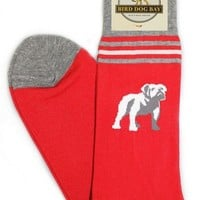 Bulldogs Sporting Socks in Red by Bird Dog Bay