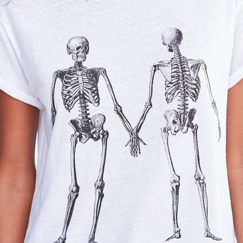 Mouchette Double Take Skeleton Tee - Urban Outfitters