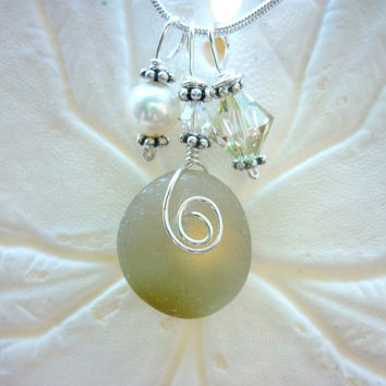 Yellow Sea Glass Necklace Beach Glass Necklace Sea Glass Jewelry English Sea Glass Sea Glass Pendant