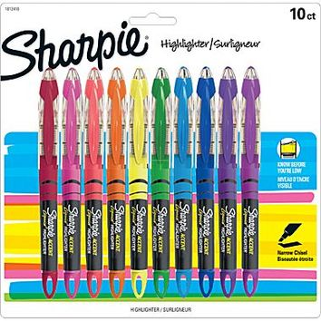 Sharpie® Liquid Accent Highlighter, Assorted, 10/Pack