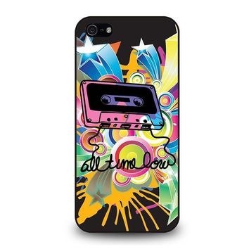 all time low retro cassete iphone 5 5s se case cover  number 1