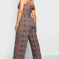 Plus Check Print Jumpsuit | Boohoo