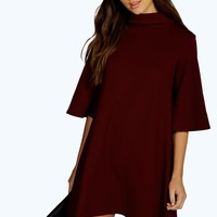 Sonia Turn Back Collar Shift Dress | Boohoo
