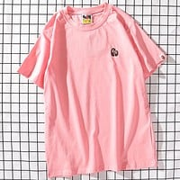 Bape Women Men Fashion Short Sleeve