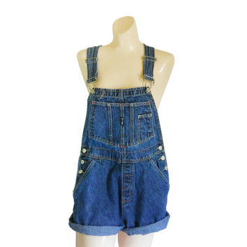 Women Denim Overall Shorts Denim Shortall Denim Bib Overall Short 90s Overall Blue Jean Overall Over All Dungaree Salopette Femme Over Alls