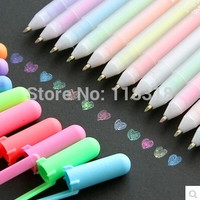 Min Order is $5,(1 Lot =3 Different Pcs) DIY Albums Gel Pens Diary Candy Color Pens Water Chalk Highlighter Canetas Markers Pen@LHB (Color: Multicolor) = 1958525828