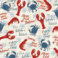 Lobster Lovers Catch of the Day Windham Fabrics One Yard