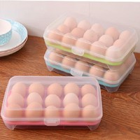 Top quality Egg Food Container Storage box 15 grid Basket organizer home kitchen Gadgets Items Accessories Supplies Products