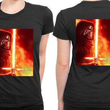DCCKG72 Star Wars The Force Awakens Kylo Ren Posters Fan Art 2 Sided Womens T Shirt