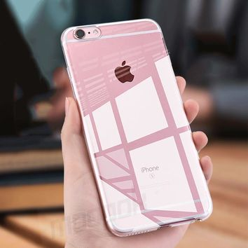 H&A Silicone Case For iPhone 5 6s 7 Cover Transparent Phone Back Soft TPU Protector Shell For iphone 8 8 6 7 Plus 6 Cases Coque