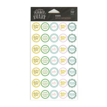 Dietary Restrictions Stickers - Yellows & Greens