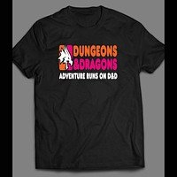 DUNGEONS AND DRAGONS DUNKIN DONUTS PARODY T-SHIRT