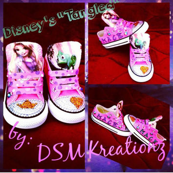 Disney's TANGLED custom converse chucks