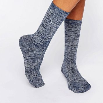 Calvin Klein Luxury Sparkle Crew Socks at asos.com