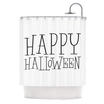 "KESS Original ""Happy Halloween - White"" Shower Curtain"