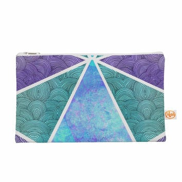 "Pom Graphic Design ""Reflective Pyramids"" Teal Purple Everything Bag"